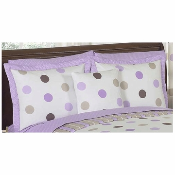 Sweet JoJo Designs Mod Dots Purple Pillow Sham