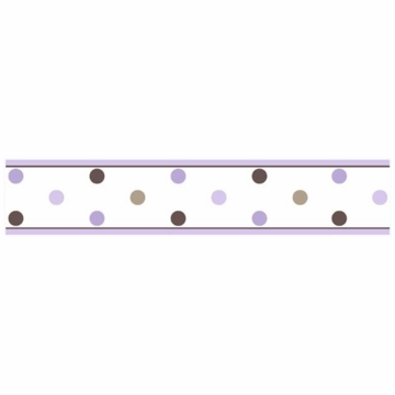 Sweet JoJo Designs Mod Dots Purple Wallpaper Border