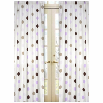 Sweet JoJo Designs Mod Dots Purple Window Panels