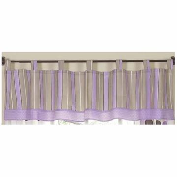 Sweet JoJo Designs Mod Dots Purple Window Valance