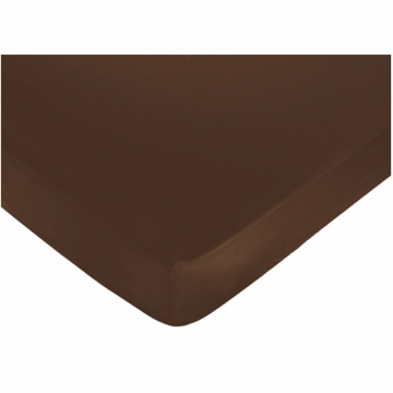 Sweet JoJo Designs Nicole Crib Sheet in Chocolate Brown