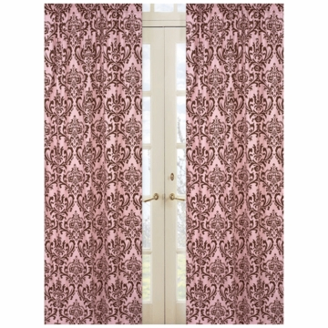 Sweet JoJo Designs Nicole Damask Print Window Panels