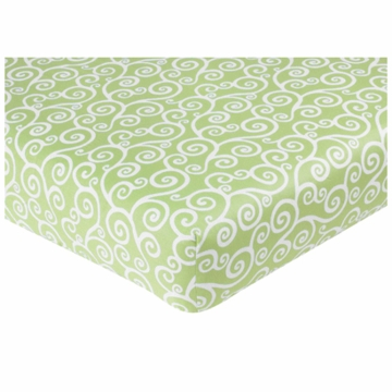 Sweet JoJo Designs Olivia Crib Sheet in Scroll Print
