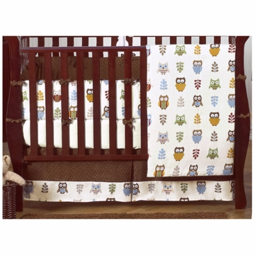 Sweet JoJo Designs Owl 9 Piece Crib Bedding Set