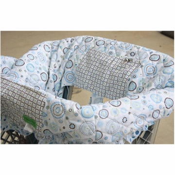 Caden Lane Shopping Cart Cover in Classic Blue