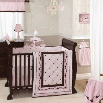 Lambs & Ivy Angelina 5 Piece Crib Bedding Set