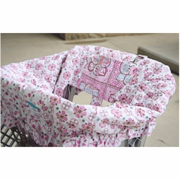 Caden Lane Shopping Cart Cover in Modern Vintage Pink