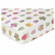 Sweet JoJo Designs Owl Pink Crib Sheet in Owl Print
