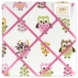 Sweet JoJo Designs Owl Pink Fabric Memo Board
