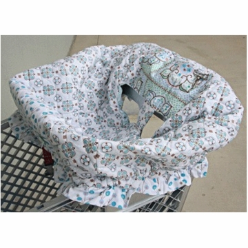 Caden Lane Shopping Cart Cover in Modern Vintage Blue