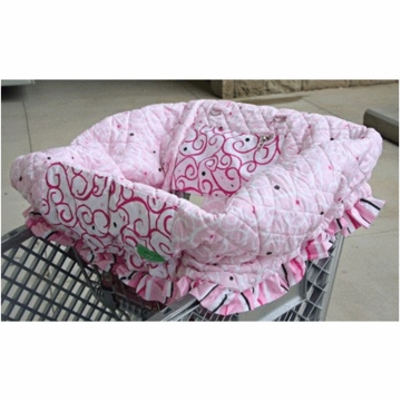 Caden Lane Shopping Cart Cover in Luxe Pink