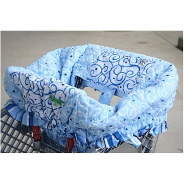 Caden Lane Shopping Cart Cover in Luxe Blue
