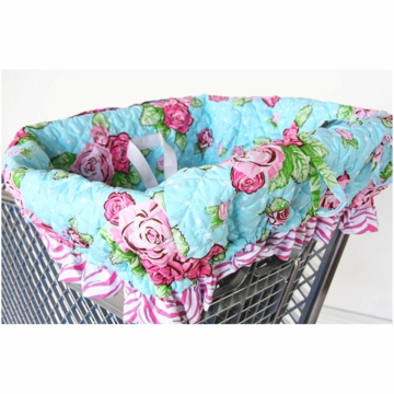 Caden Lane Shopping Cart Cover in Pink Rose