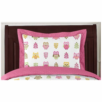 Sweet JoJo Designs Owl Pink Pillow Sham