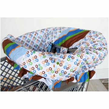 Caden Lane Shopping Cart Cover in Blue Star