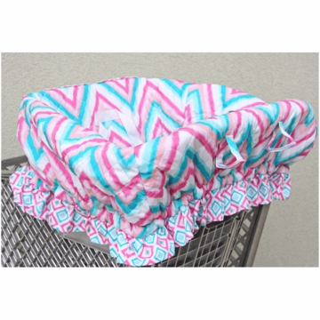 Caden Lane Shopping Cart Cover in Ikat Pink