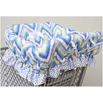 Caden Lane Shopping Cart Cover in Ikat Blue