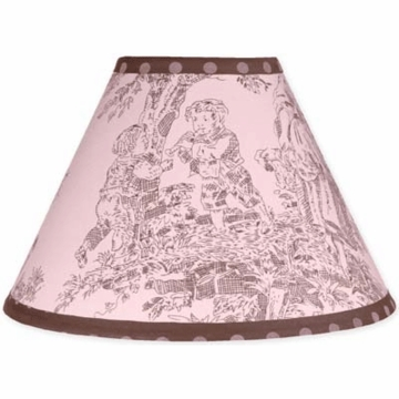 Sweet JoJo Designs Pink & Brown Toile Lamp Shade