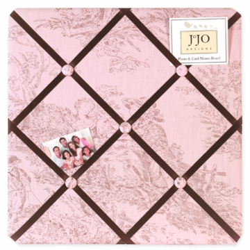Sweet JoJo Designs Pink & Brown Toile Fabric Memo Board