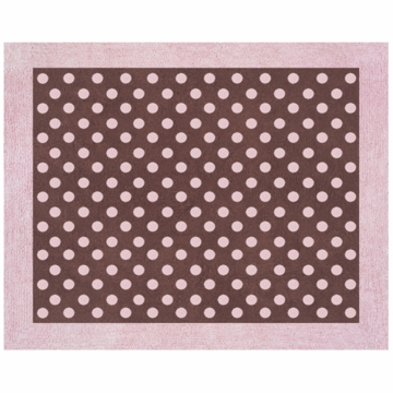 Sweet JoJo Designs Pink & Brown Toile Rug