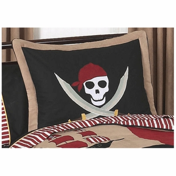 Sweet JoJo Designs Pirate Treasure Cove Pillow Sham