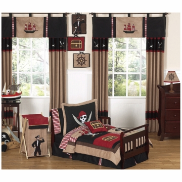 Sweet JoJo Designs Pirate Treasure Cove 5 Piece Toddler Bedding Set