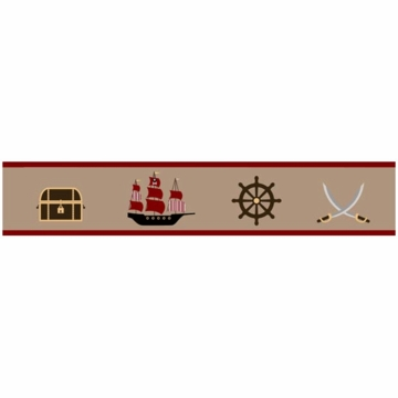 Sweet JoJo Designs Pirate Treasure Cove Wallpaper Border