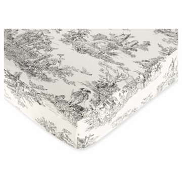 Sweet JoJo Designs Toile Crib Sheet in Toile Print