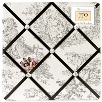 Sweet JoJo Designs Toile Fabric Memo Board