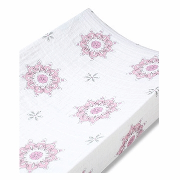 Aden + Anais 100% Cotton Muslin Changing Pad Cover - For The Birds - Medallions