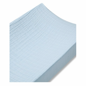 Aden + Anais 100% Cotton Muslin Changing Pad Cover - Solid Blue