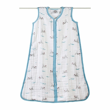 Aden + Anais Muslin Cozy Sleeping Bag - Liam The Brave - Dog - Large