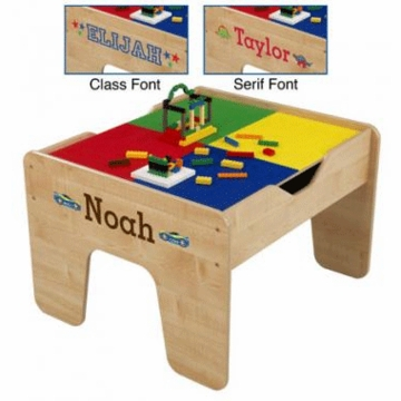 KidKraft Personalized 2-in-1 Activity Table with LEGO Compatible Board