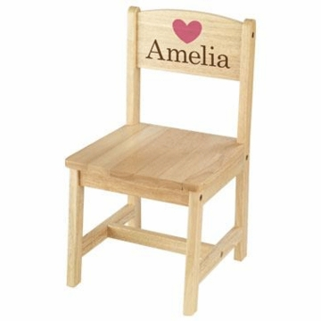 KidKraft Personalized Aspen Single Chair in Natural