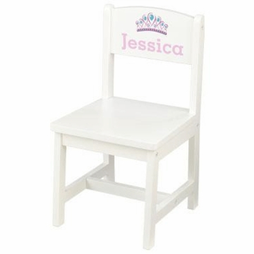 KidKraft Personalized Aspen Single Chair in White