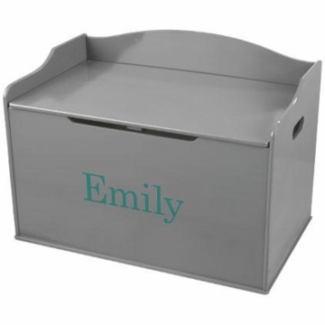 KidKraft Personalized Austin Toy Box in Gray
