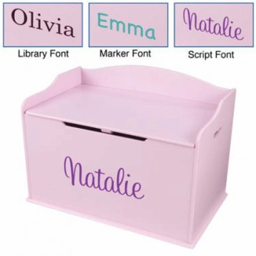 KidKraft Personalized Austin Toy Box - Pink