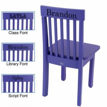 KidKraft Personalized Avalon Chair in Grape