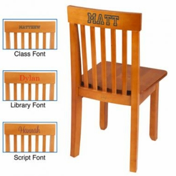 KidKraft Personalized Avalon Chair in Honey