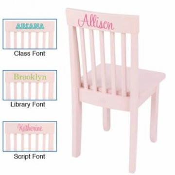 KidKraft Personalized Avalon Chair in Petal