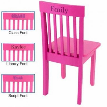 KidKraft Personalized Avalon Chair in Raspberry