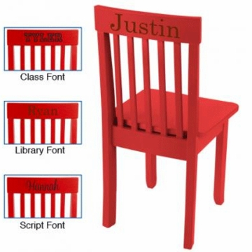 KidKraft Personalized Avalon Chair in Red