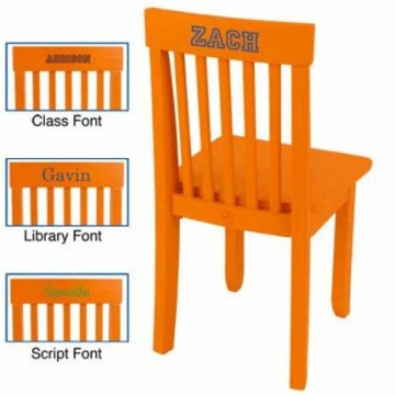 KidKraft Personalized Avalon Chair in Tangerine