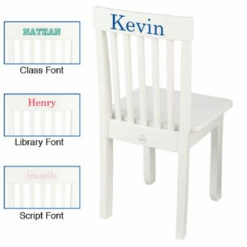 KidKraft Personalized Avalon Chair in White
