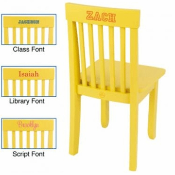 KidKraft Personalized Avalon Chair in Yellow