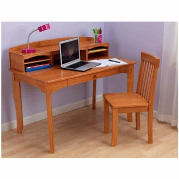 KidKraft Avalon Desk with Hutch in Honey