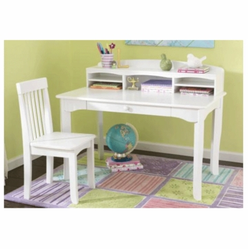 KidKraft Avalon Desk with Hutch in White