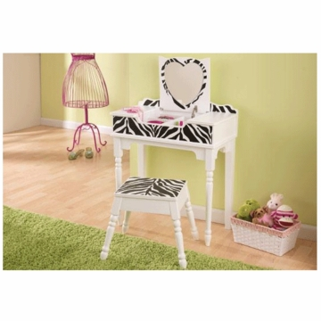 KidKraft Fun & Funky Vanity and Stool Set