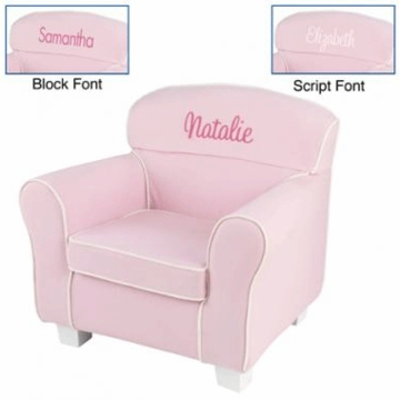 KidKraft Personalized Laguna Chair with Pink Slip Cover