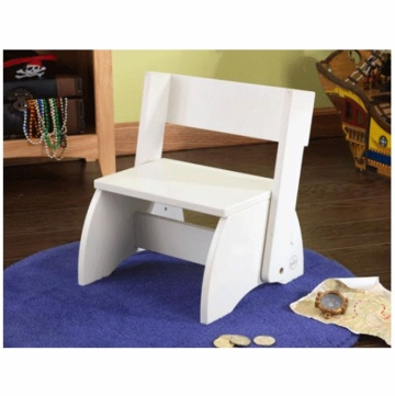 KidKraft Large Flip Stool in White